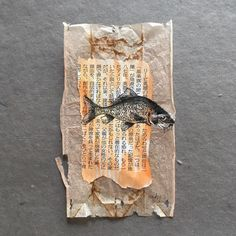 26 DAY OF TEA IN JAPAN: Ruby Silvious (female, aka silvierub; was born in Tacloban City, Philippines; currently lives in the Hudson Valley, NY) Tea Bag Art, Tea Art, Mixed Media Collage, Collage Art, Mix Media, Used Tea Bags, Creation Art, Ap Studio Art, Photocollage