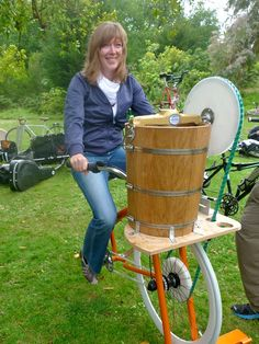 Rock The Bikes new Ice Cream Bike Pro is the best way to churn up your ice cream using your leg energy to pedal up and make ice cream! Diy Ice Cream, Ice Cream Maker, Country Living Grain Mill, Beach Clean Up, Food Kiosk, Diy Pond, Survival, Parking Design, Bike Pedals