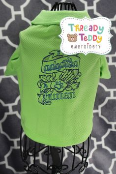 I Adopted a Human Dog Sweater Polo Shirt Embroidery Applique