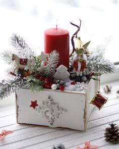 Винтажная новогодняя композиция «Щелкунчик» – купить или заказать в интернет-магазине на Ярмарке Мастеров | Креативная новогодняя композиция в винтажном…