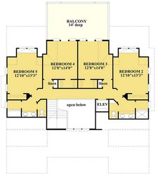 Beachy Perfect 5 Bed House Plan - 15095NC | Architectural Designs - House Plans