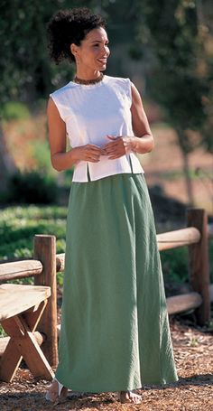 bias cut skirts!  this one is from Deva Lifewear...a North Dakota company.  I wear their skirts all the time.