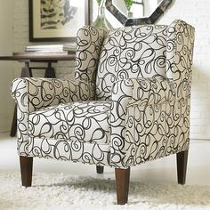 Funky accent chairs on pinterest accent chairs paisley for Funky fabric dining chairs