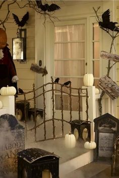 454 Best OUTSIDE HALLOWEEN DECORATIONS Images Holidays