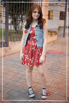 Karol Pinheiro » Look da Ka: vestido floral e All Star