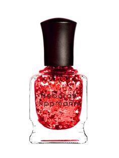 #makeup #nailpolish #nailart #red #glitters