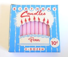 vintage birthday candles Vintage Theme, Vintage Party, Vintage Birthday, Vintage Gifts, Birthday Cake With Candles, My Birthday Cake, It's Your Birthday, Happy Birthday, Birthday Stuff