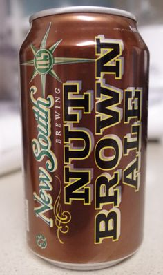 New South Brewing's Nut Brown Ale, I drank it so fast I forgot to include a picture of the can's contents, so good!
