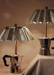 Coffee maker lamp made by the designer Gilles Eichenbaum. ++ Via Modern Architecture Concept website !