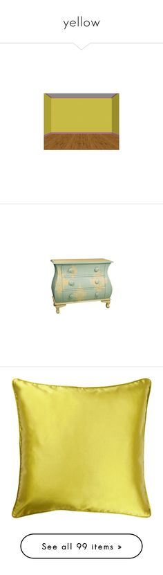 """yellow"" by shainalrp ❤ liked on Polyvore featuring rooms, home, furniture, storage & shelves, dressers, decor, インテリア家具, 3 drawer dressers, damask furniture and animal furniture"