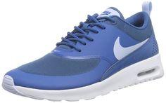 Nike Air Max Thea, Damen Sneakers, Blau (Brigade Blue/Porpoise-White 410), 36 EU