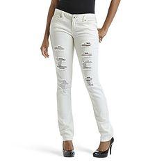 Levi&39s® Juniors&39 524 Destroyed White-Wash Skinny Jeans - Juniors