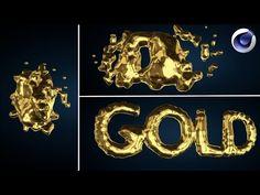 Cinema 4d Liquid Gold Text Intro Tutorial (Metaball) - YouTube