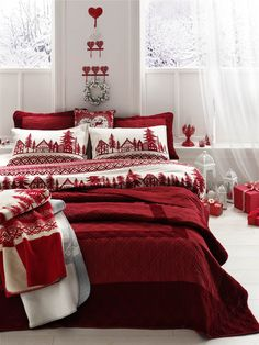 Merry Christmas. Christmas bedding, Christmas decor. Cosy and ready for the winter.