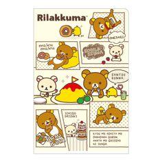 Cute Rilakkuma folder ^_^ ミニミニダブルクリアホルダー(リラックマ・マンガ風)