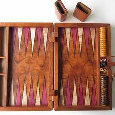 Koa Inlaid Backgammon Set by Dennis Kincaid