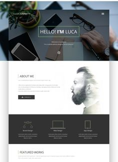 Hello! I'm Luca | PERSONAL WEBSITE on Behance
