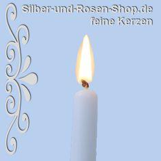 Spitzkerzen / Leuchterkerzen hellblau - Silber-und-Rosen-Shop