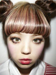 Double Hair Buns, Doll Eye Makeup, Japanese Streets, Japanese Street Fashion, Harajuku Fashion, Japan Fashion, Harajuku Style, 2015 Hairstyles, Bun Hairstyles
