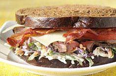 Beef and Slaw Sandwiches Recipe - Kraft Recipes with Turkey Bacon!