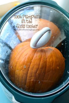 Instead of buying canned pumpkin at the supermarket, put a whole pumpkin in your slow cooker to create your own puree. Your guests will be impressed at how fresh your sweet and savory pumpkin recipes taste.