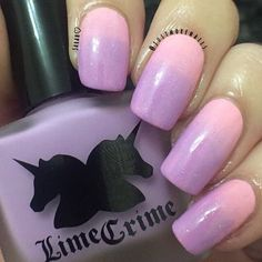 Cute gradient mani  @justmorenails used #LAVENDAIRY & #PARFAITDAY.  Tag #limecrime for a chance to have your work featured.