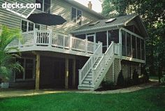 Incorporated with four season sun room. decks.com