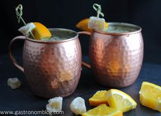 Fresh Squeezed Moscow Mule Recipe - orange, ginger, ginger beer