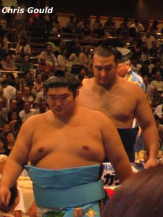 Kotomitsuki (f) and Kotooshu (b) - two Ozeki from the Sadogatake stable. This was Kotomitsuki's first tournament on sumo's second rank. He retired in 2010. Kotooshu lost second rank status in November 2013.