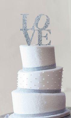 Wedding Cake Topper Philadelphia LOVE Cake by ChicagoFactory www.chicagofactory.com