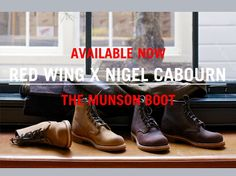 Red Wing x Nigel Cabourn collaboration: The Munson Boot. Now available at www.redwingamsterdam.com #redwing #nigelcabourn #collaboration #munsonboot #munson #harristweed