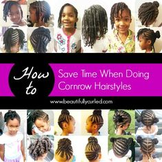 Beautifully Curled: 3 Tips to Save Time When Doing Cornrow Hairstyles. visit http://www.coilsandglory.com/ for more hairspiration