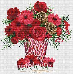 Kanaviçe Saksıda Çiçek Örnekleri (1)