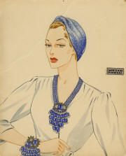 Miriam Haskell advertistement. Vintage jewelry ad. inspiration brought to you by www.aussiebeader.com