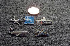 JOB LOT 5 X AIRCRAFT/PLANE/AVIATION/JET RELATED PIN BADGES !