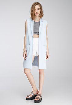 Open-Front Longline Vest - Jackets & Coats - 2000079476 - Forever 21 UK