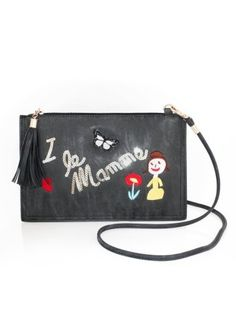 Listová kabelka s farebnou výšivkou a flitrami #ModinoSK December, Bags, Fashion, Handbags, Moda, Fashion Styles, Fashion Illustrations, Bag, Totes