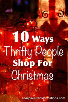 10 ways to save money on Christmas this year.