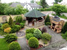 Backyard Fort, Backyard Covered Patios, Backyard Retreat, Backyard Landscaping, Garden Pond Design, Patio Design, Landscape Design, Outdoor Gazebos, Outdoor Gardens
