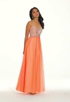 $329.99 Grecian Two Tone Tulle Dress from Camille La Vie. Gorgeous, vibrant color.