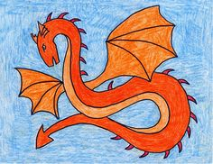 My students have often asked me how to draw a dragon, so I put together this tutorial.