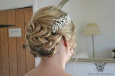 An elegant up wedding up do style using hair extensions ... Wedding Hair styling by Fordham Hair Design Gloucestershire  ... Wedding Hair Styling at The Kingscote Barn