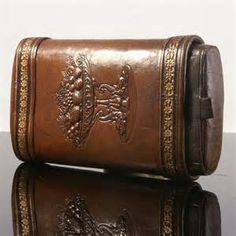 Victorian leather cigar case.