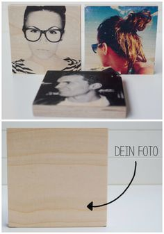 Individuelles Geschenk für Freunde: Dein Foto auf einem Holzblock / funny gift idea for friends: your photos on a wooden block made by MoinMoni via DaWanda.com