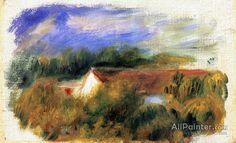 Pierre Auguste Renoir Red Roofs oil painting reproductions for sale