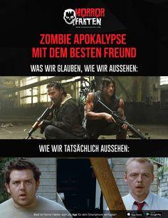 Du und dein bester Freund in einer Zombie-Apokalypse