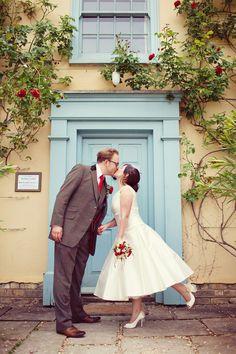 Cute retro style. Jemma & Harry's Real Wedding at South Farm