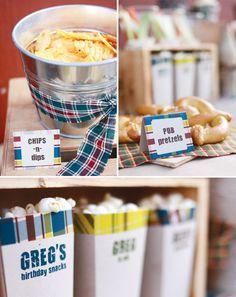 beer tasting party chips - food labels