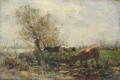 Willem Maris - Koeien bij een meer