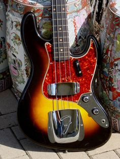 1960 Fender Jazz Bass museum quality from August 1960 Fender Jazz Bass, Bass Guitars, Guitar Stand, Vintage Guitars, Cool Guitar, Instrumental, Art Forms, Horns, Electric